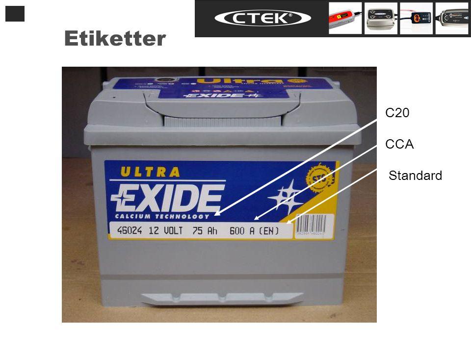 Etiketter C20 CCA Standard