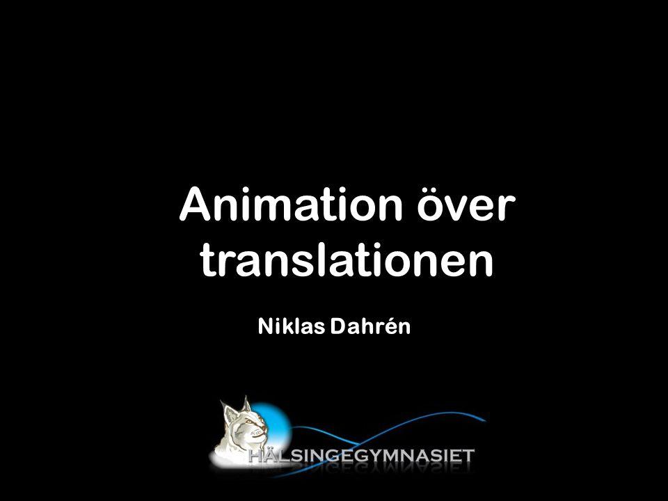 Niklas Dahrén Animation över translationen