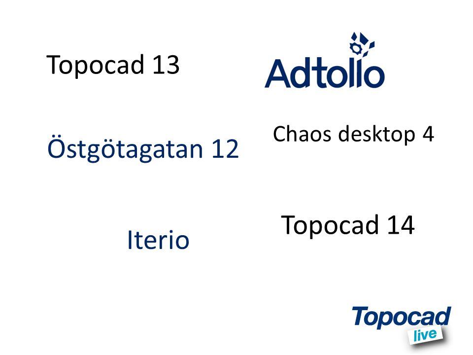 Topocad 13 Topocad 14 Östgötagatan 12 Iterio Chaos desktop 4
