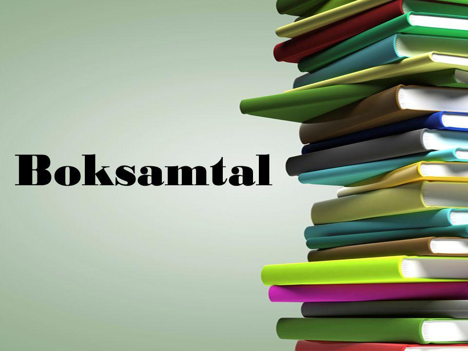 •Tre boksamtal •Skriv anteckningar till det du läser.