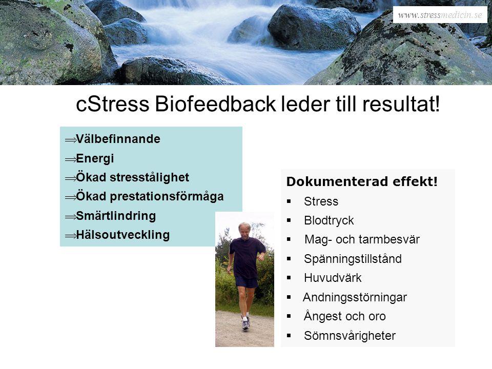 www.stressmedicin.se cStress - see & change See – cStress hjälper dig se och förstå.
