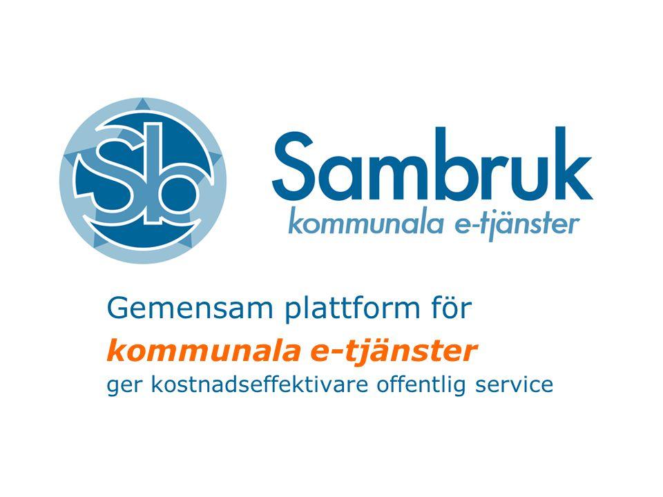 Gemensam plattform för kommunala e-tjänster ger kostnadseffektivare offentlig service