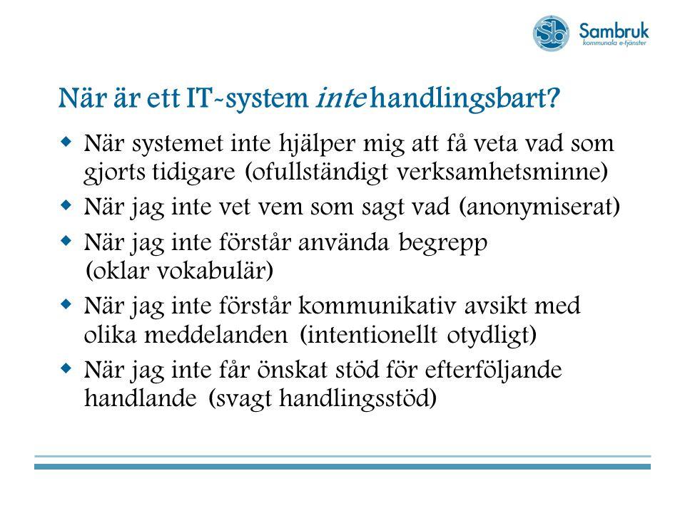 När är ett IT-system inte handlingsbart.