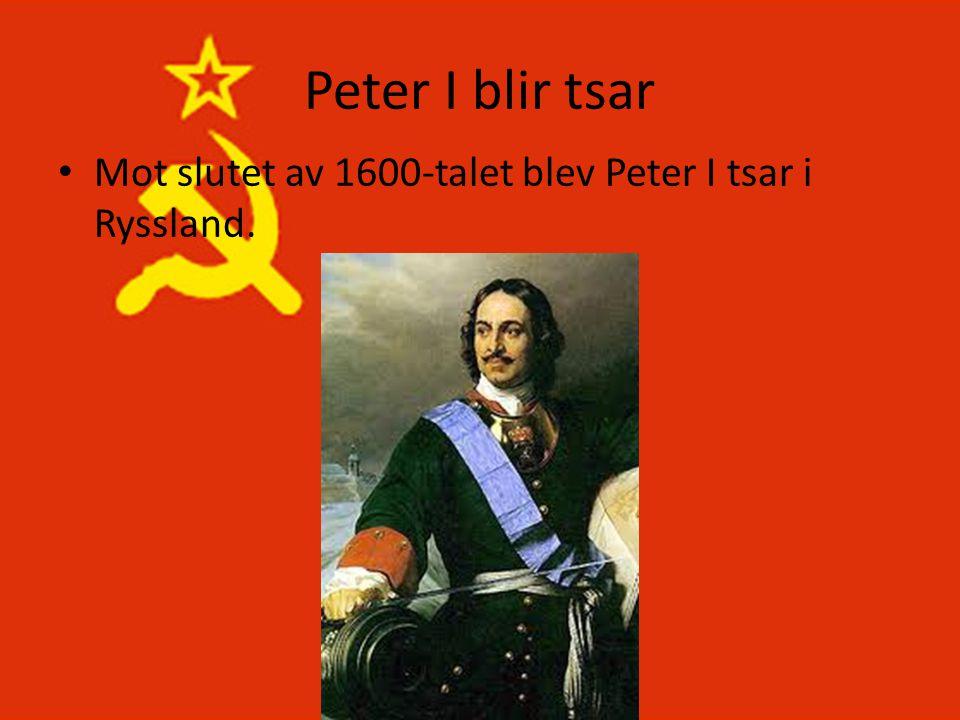 Peter I blir tsar • Mot slutet av 1600-talet blev Peter I tsar i Ryssland.