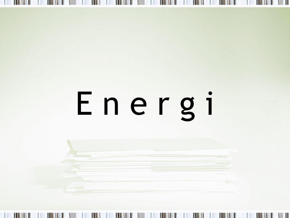 Energikvalitet - Exergi Vissa energiformer är mer användbara än andra: Energiformer som låter sig omvandlas helt och fullt till andra energiformer sägs ha hög kvalitet.