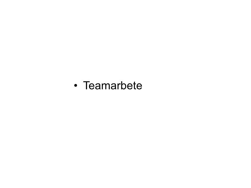 •Teamarbete