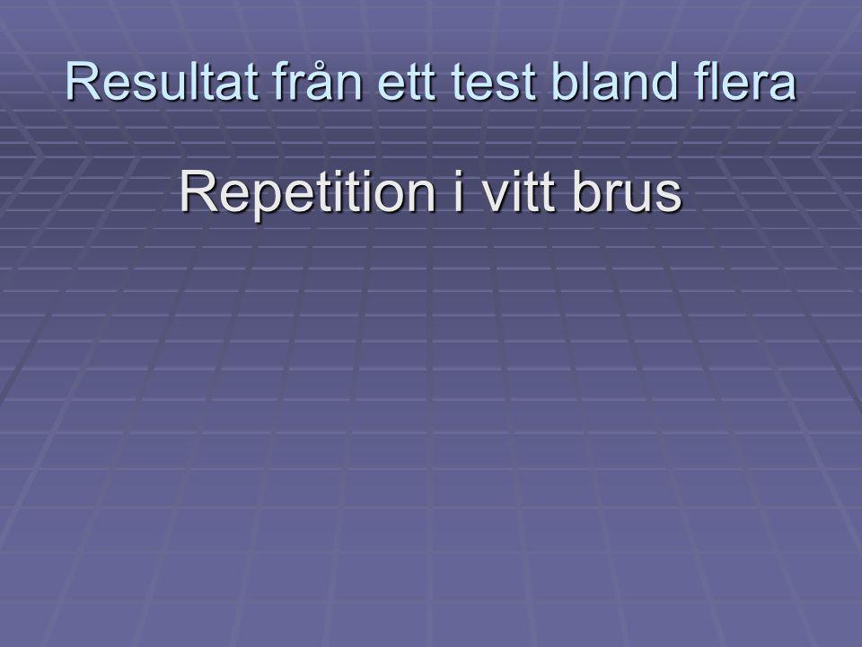 Resultat från ett test bland flera Repetition i vitt brus