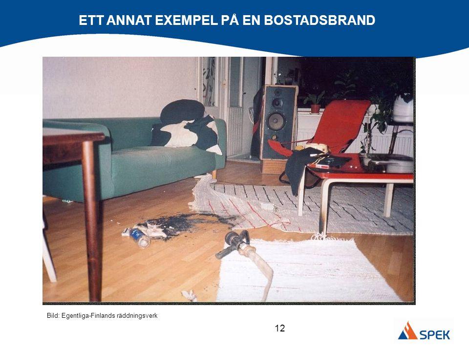 12 ETT ANNAT EXEMPEL PÅ EN BOSTADSBRAND Bild: Egentliga-Finlands räddningsverk