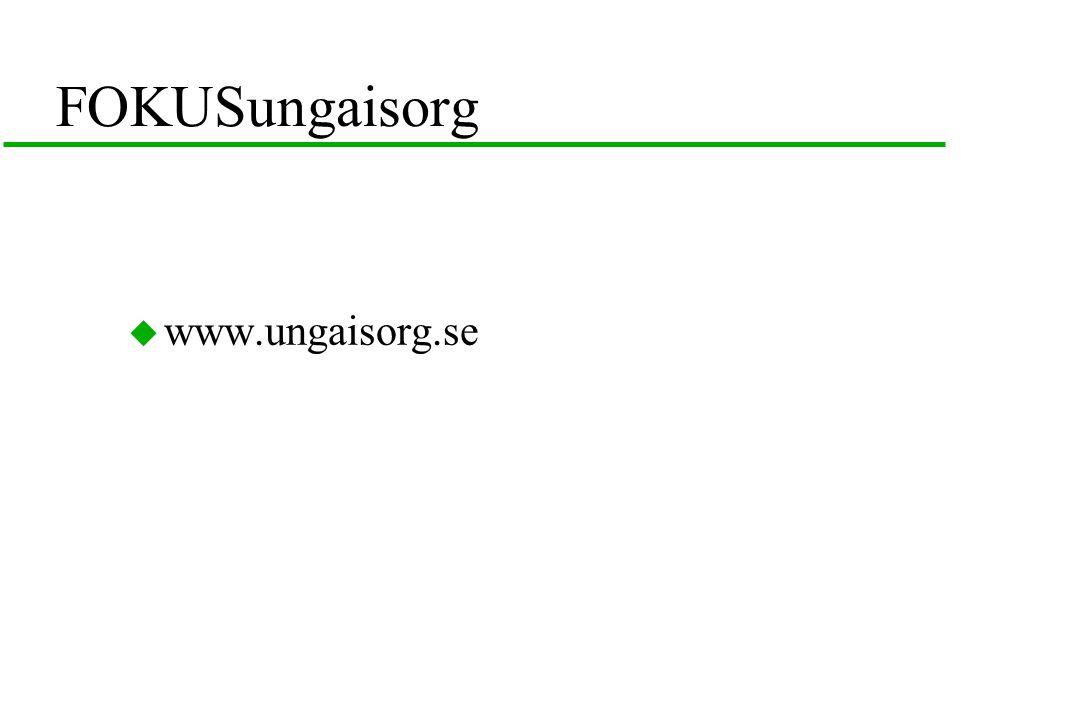 FOKUSungaisorg  www.ungaisorg.se
