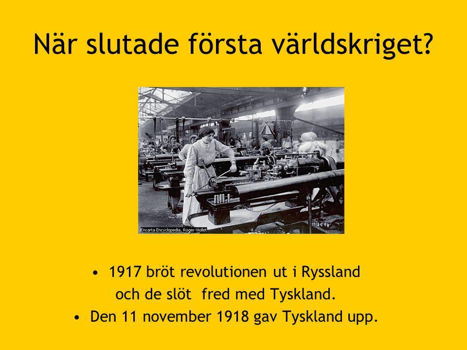När slutade första världskriget.