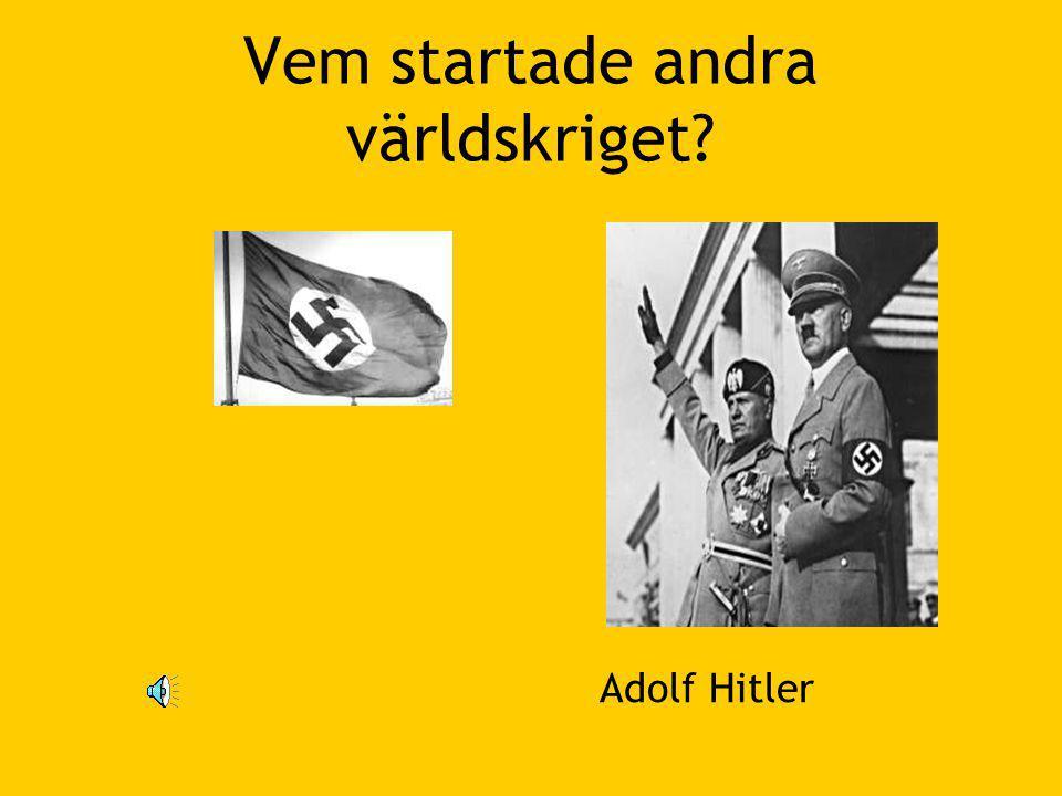 Vem startade andra världskriget? Adolf Hitler