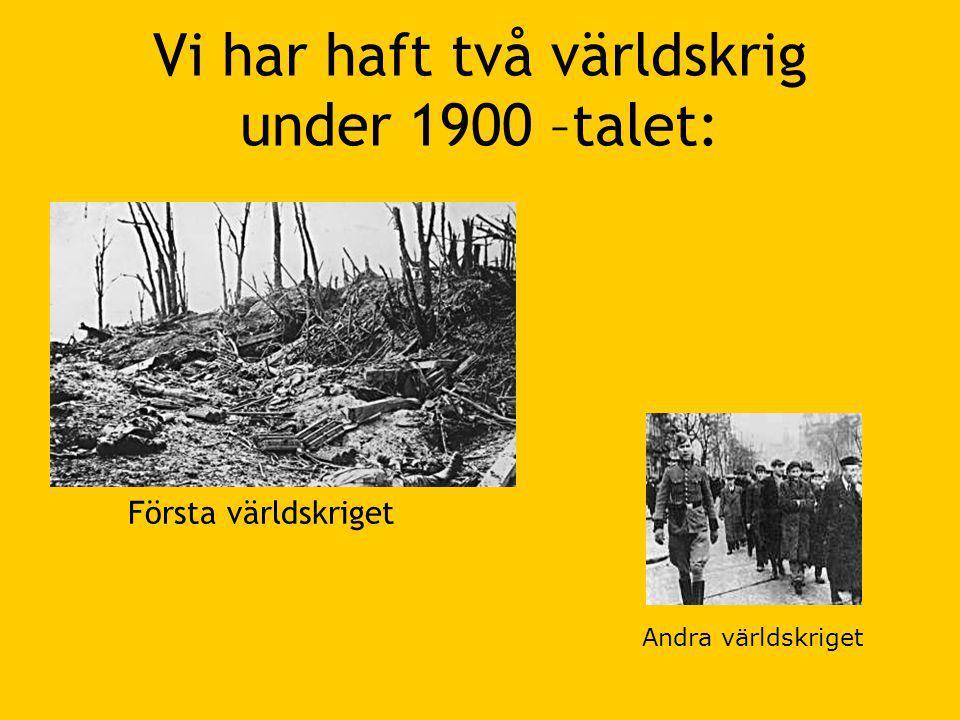 Första Världskriget •1914 – 1919