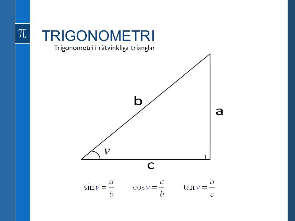 TRIGONOMETRI Definitioner