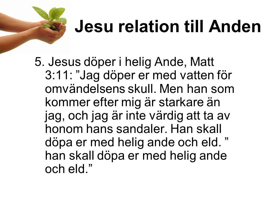Jesu relation till Anden 5.