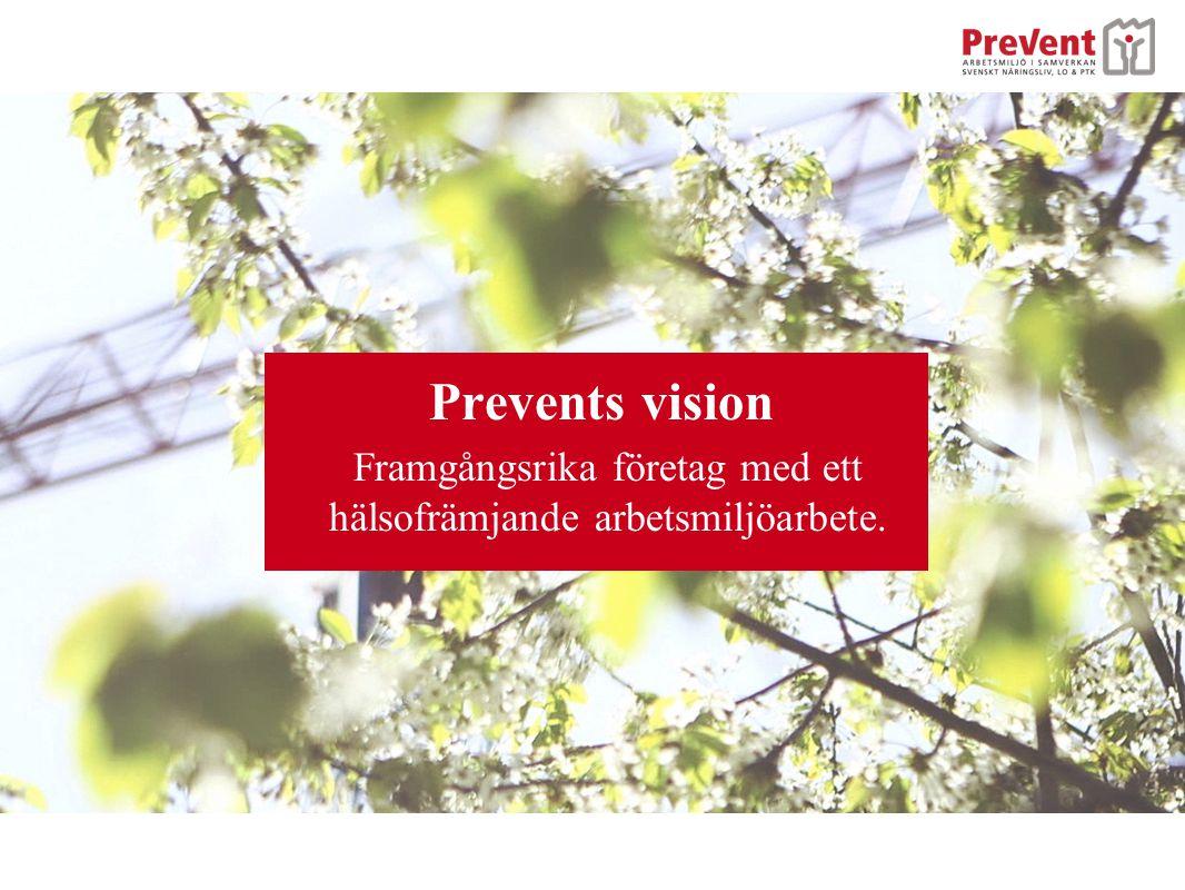 Prevents vision Framgångsrika företag med ett hälsofrämjande arbetsmiljöarbete.
