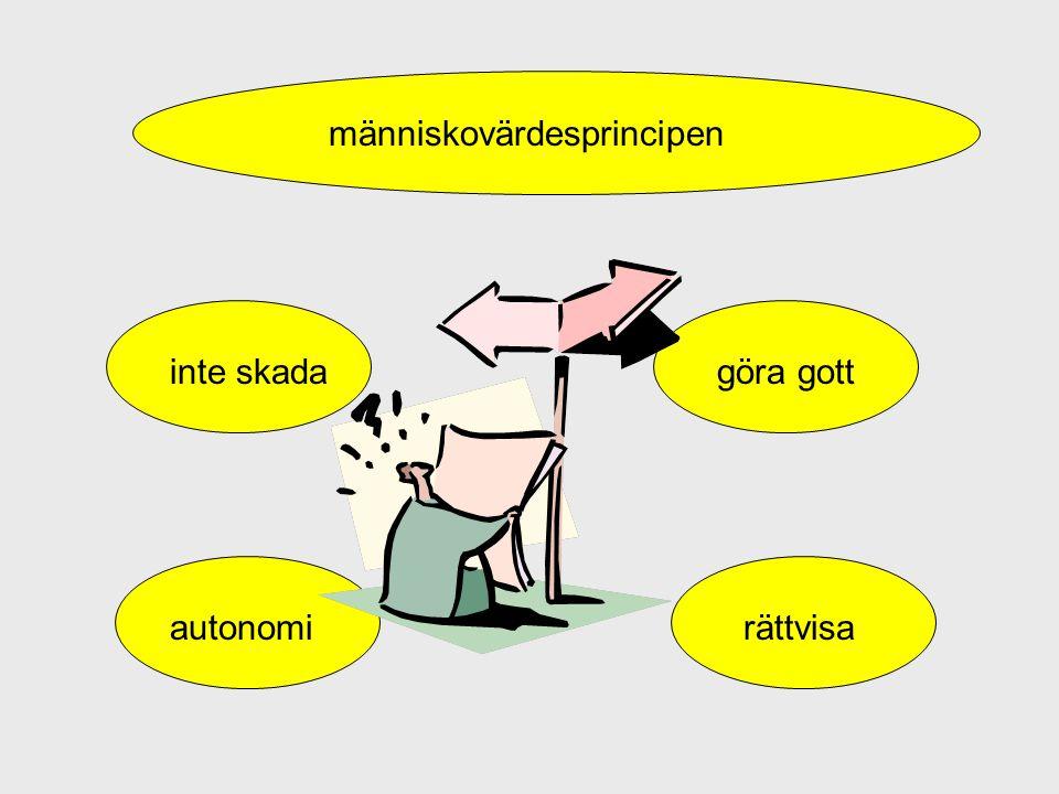 inte skadagöra gott autonomirättvisa människovärdesprincipen