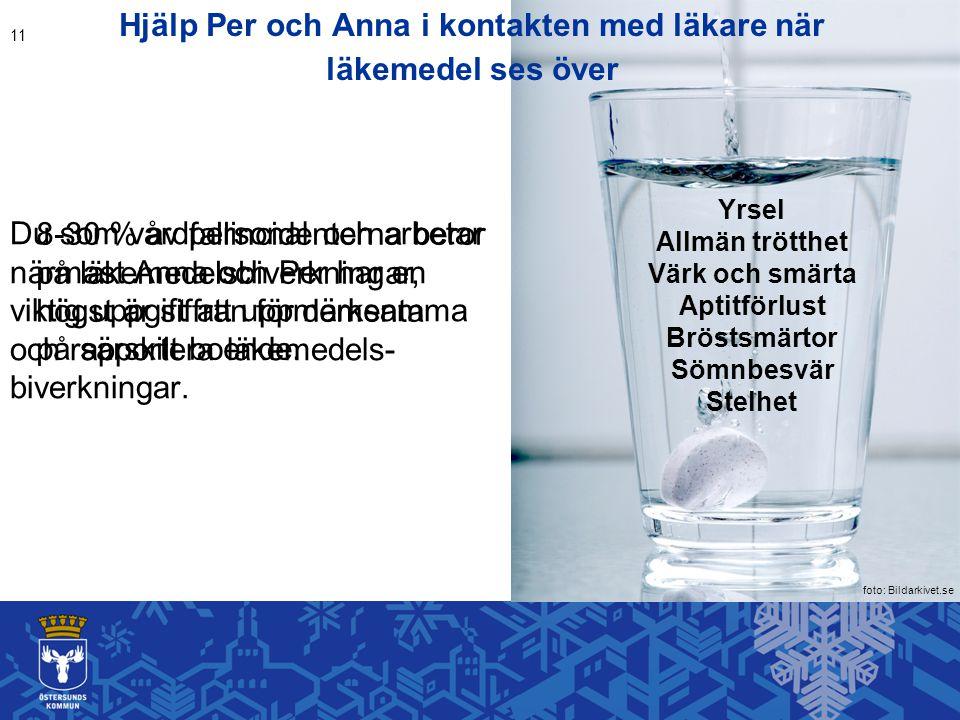 Hjälp Per och Anna i kontakten med läkare när läkemedel ses över Du som vårdpersonal och arbetar närmast Anna och Per har en viktig uppgift att uppmär