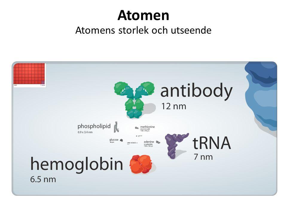 Atomen Atomens storlek och utseende