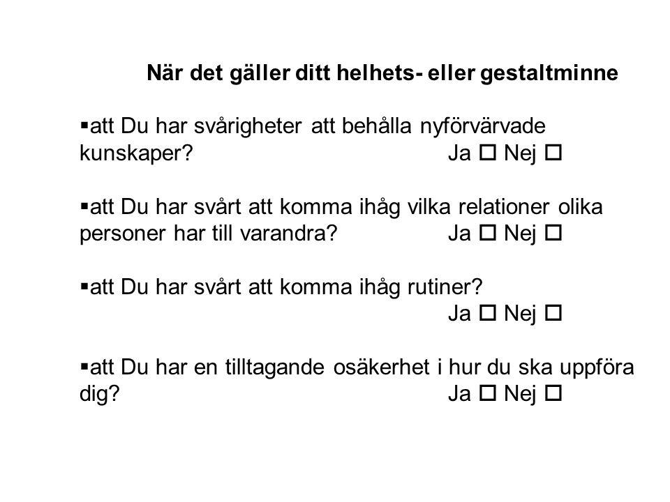 Frågeformulär som speglar graden av haschberoende 1.