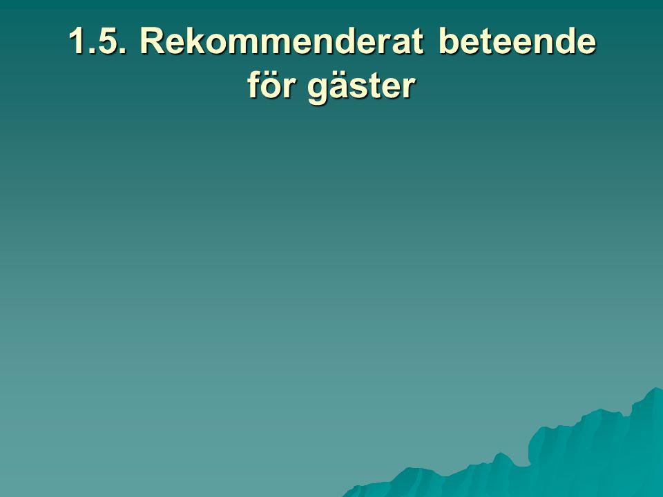 1.5. Rekommenderat beteende för gäster