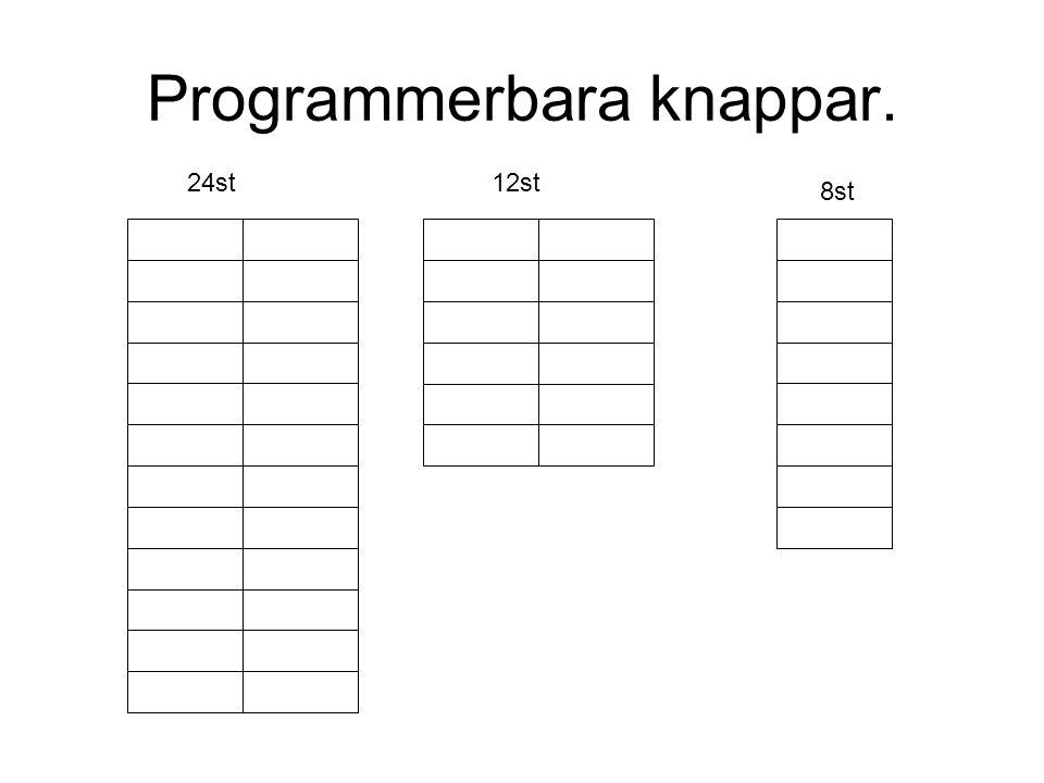 Programmerbara knappar. 24st12st 8st
