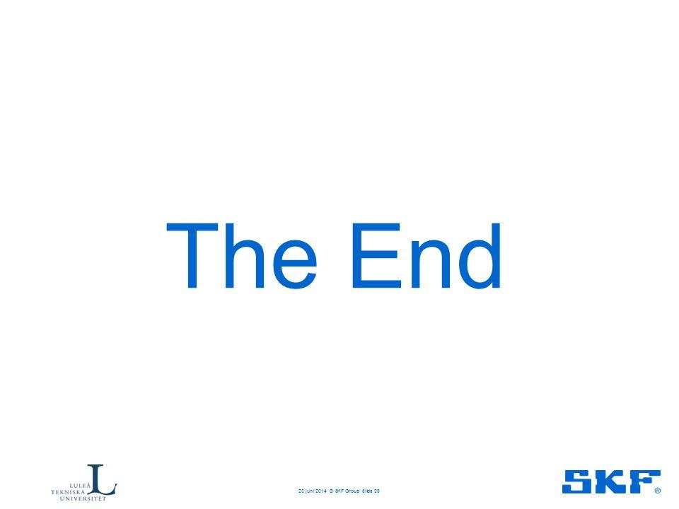 The End 23 juni 2014 © SKF Group Slide 29