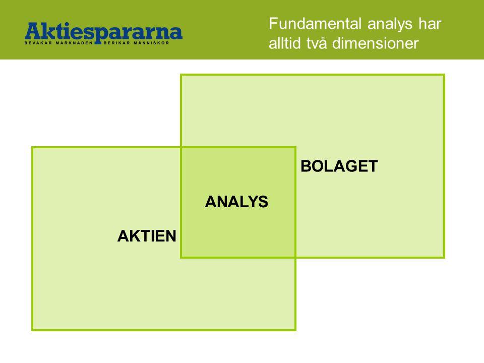 Fundamental analys har alltid två dimensioner ANALYS AKTIEN BOLAGET