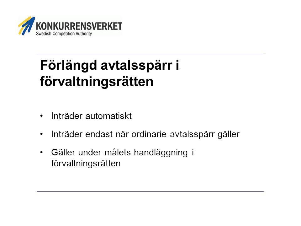 Förhandsinsyn •Frivilligt tillkännagivande om avsikten att ingå avtal genom o förhandlat förfarande utan föregående annonsering (4 kap 5-9 §§ LOU/4 kap 2-3 LUF) o direktupphandling (15 kap 3 § 2 st LOU/LUF) •Annonsering i elektronisk databas som är allmänt tillgänglig (TED/svenska databaser)
