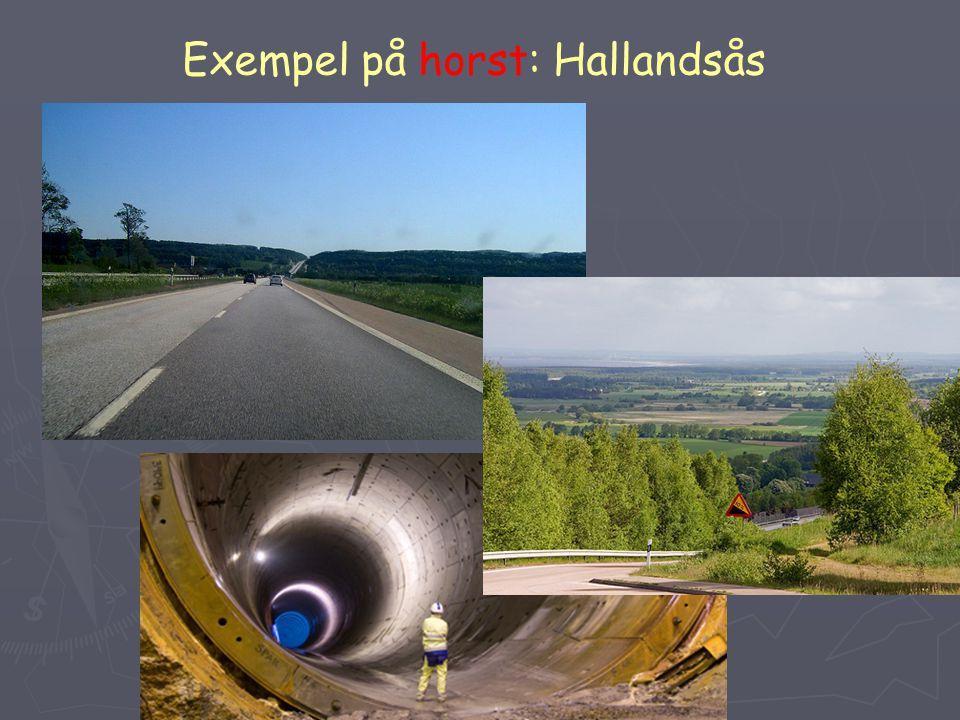 Exempel på horst: Hallandsås