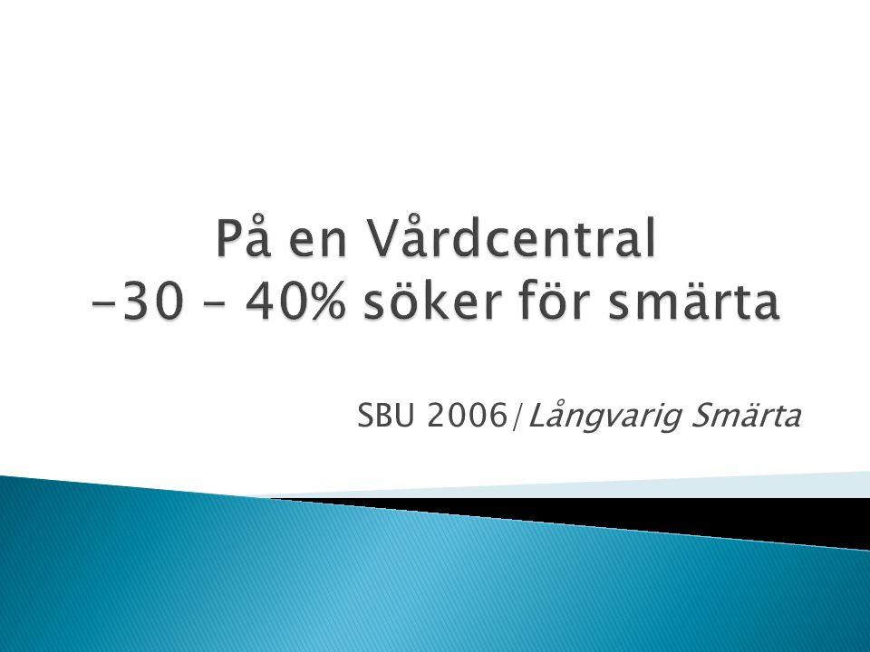 SBU 2006/Långvarig Smärta