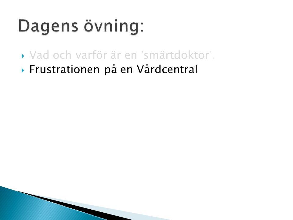 Den enskilt största orsaken till kontakter med öppen sjukvård Ingmar Andersson -91 SoS -93