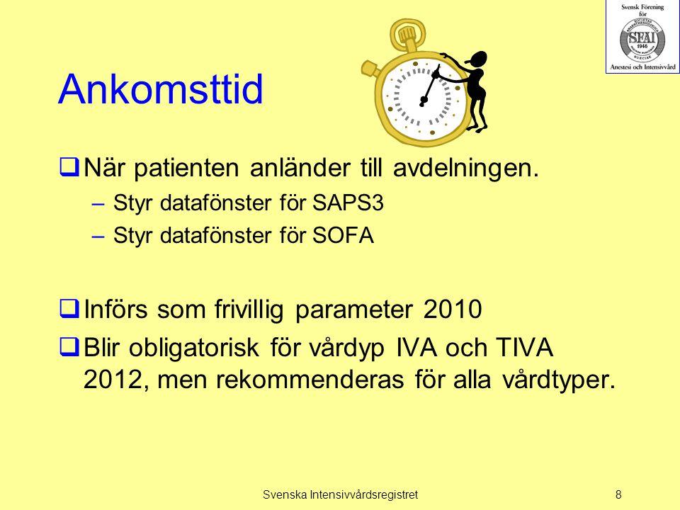 Vårdtyper  Inga ändringar av vårdtyper nu (BRIVA i framtiden?)  Åtgärder och komplikationer möjliga att registrera i alla vårdtyper.