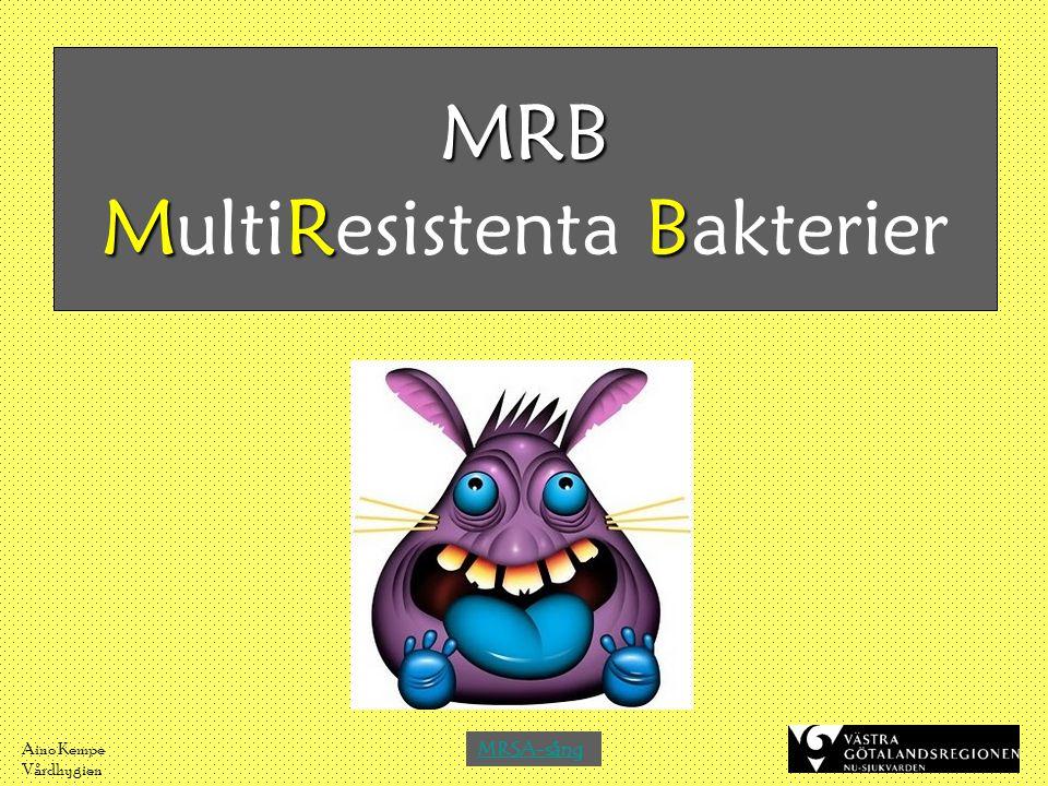 Aino Kempe Vårdhygien MRB MRB MRB MultiResistenta Bakterier MRSA-sång