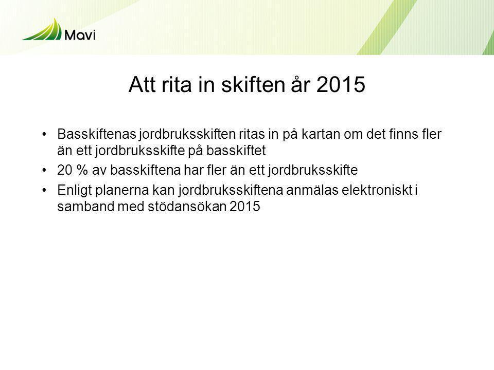 Miljöspecialstöd 1/2 Förlängning av avtal •Ansökan med blankett 217 – NTM-centralen postar (också suomi.fi) •Avtal som löper ut våren 2014 förlängs på ansökan med ett (1) år till våren 2015.
