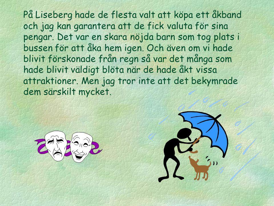 På Liseberg hade de flesta valt att köpa ett åkband och jag kan garantera att de fick valuta för sina pengar. Det var en skara nöjda barn som tog plat