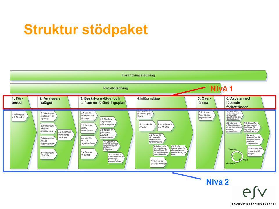 Struktur stödpaket Nivå 1 Nivå 2