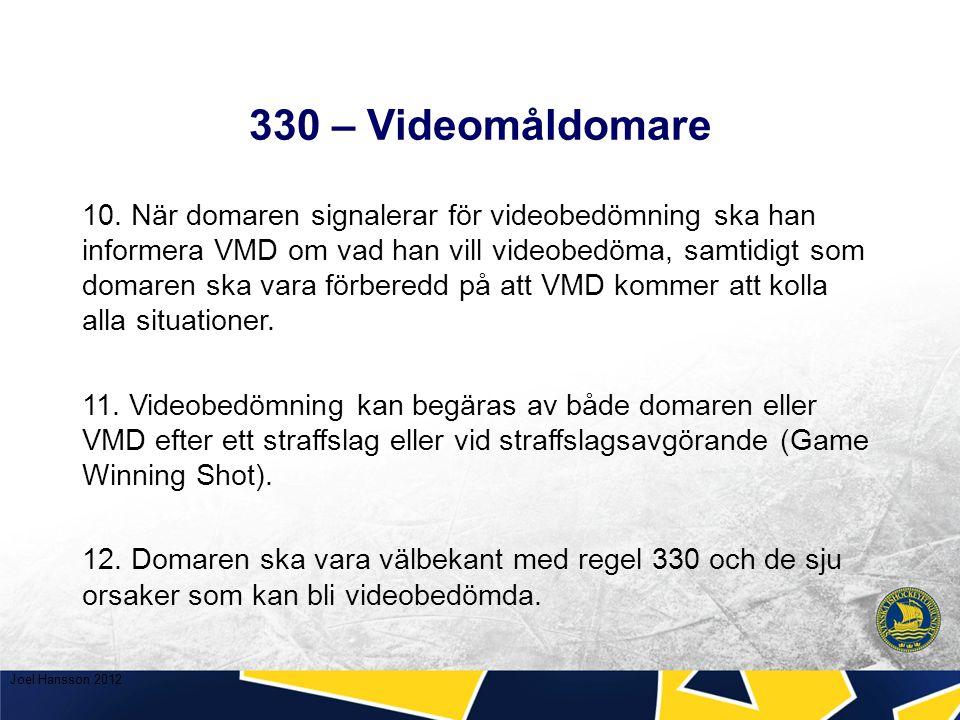 330 – Videomåldomare 10.