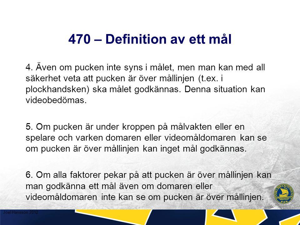 470 – Definition av ett mål 4.