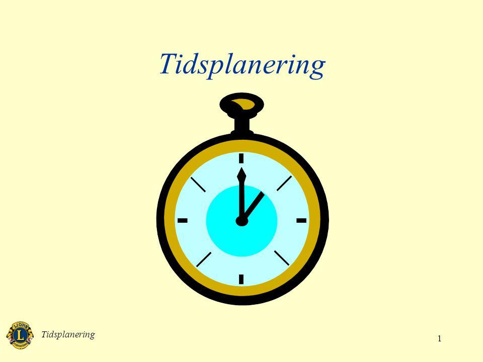 Tidsplanering 1