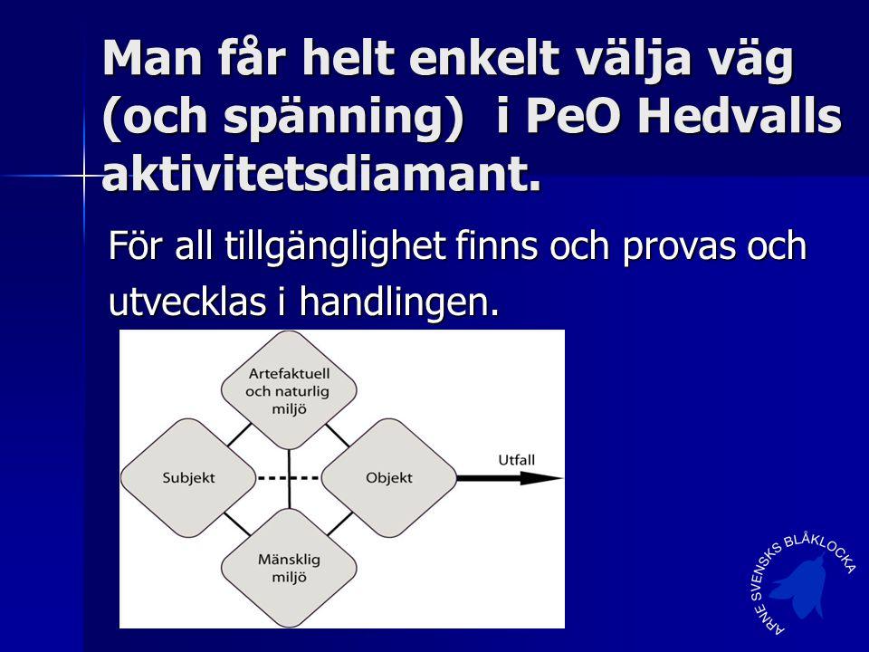 Man får helt enkelt välja väg (och spänning) i PeO Hedvalls aktivitetsdiamant.