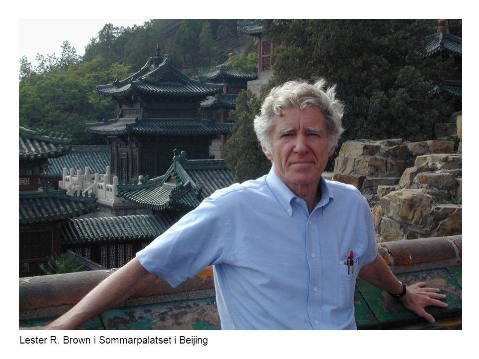 Lester R. Brown i Sommarpalatset i Beijing