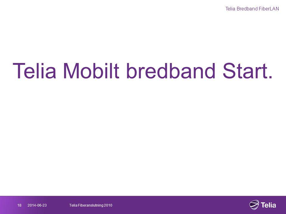 2014-06-2318Telia Fiberanslutning 2010 Telia Mobilt bredband Start. Telia Bredband FiberLAN