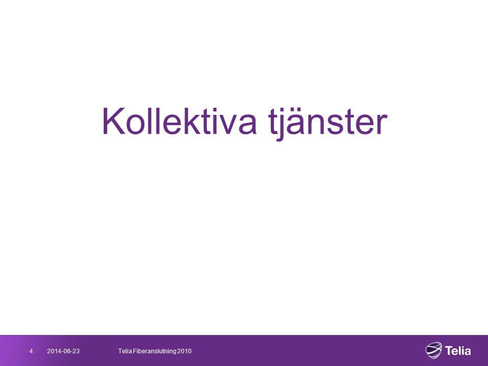 2014-06-234Telia Fiberanslutning 2010 Kollektiva tjänster