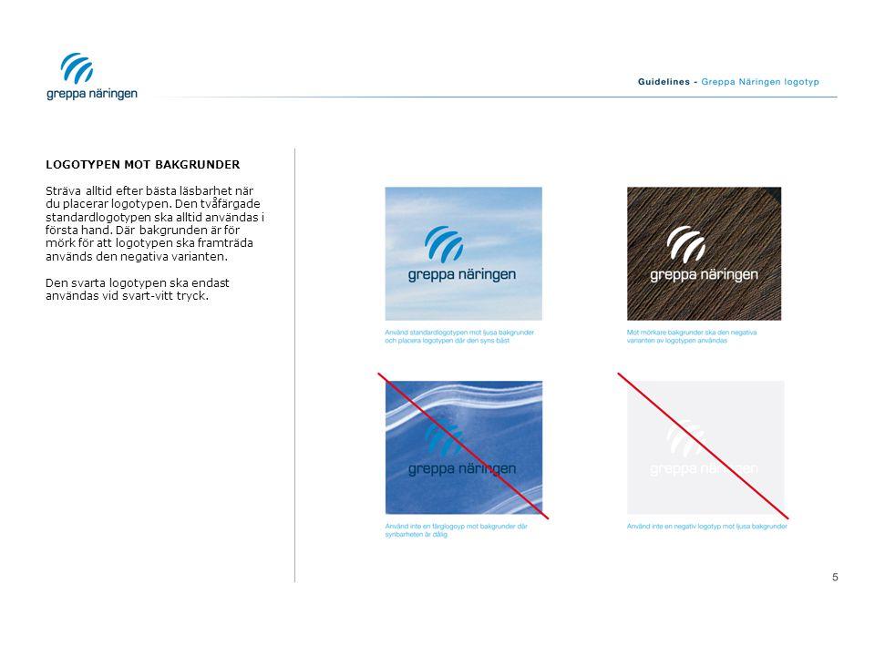 FELAKTIGT ANVÄNDANDE AV LOGOTYPEN Det är lätt att göra fel vid användandet av logotypen.