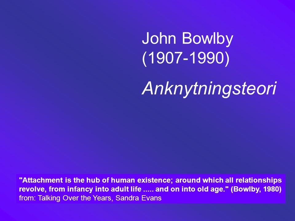 John Bowlby (1907-1990) Anknytningsteori