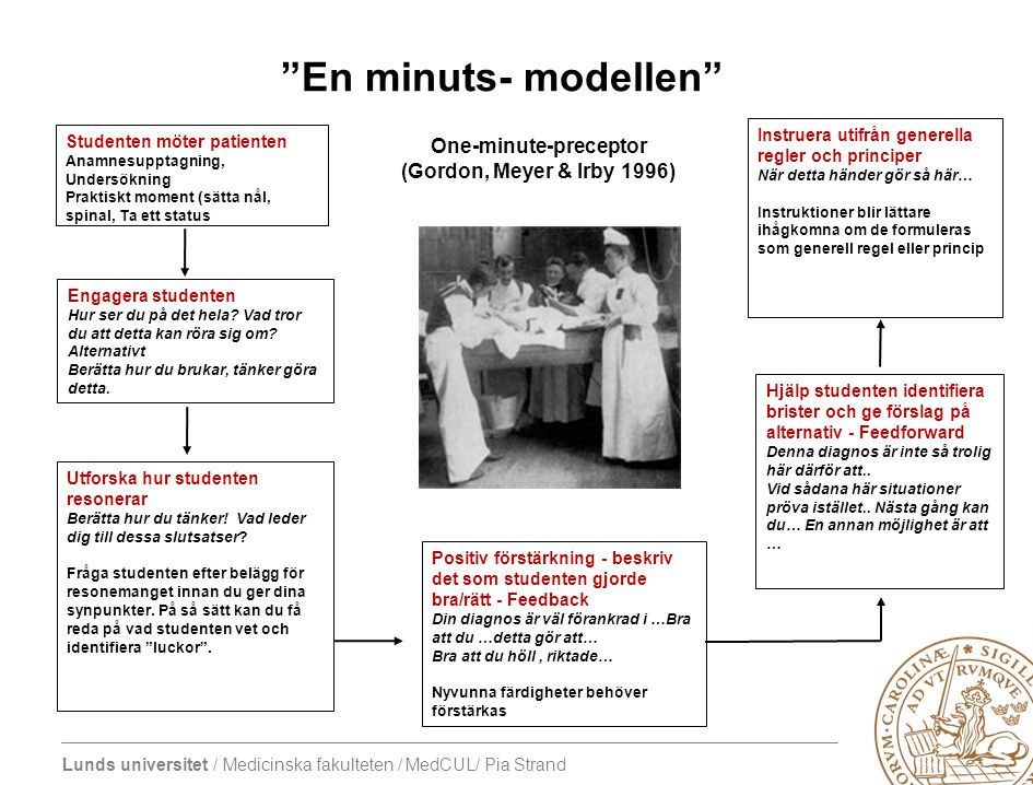 Lunds universitet / Medicinska fakulteten / MedCUL/ Pia Strand Engagera studenten Hur ser du på det hela? Vad tror du att detta kan röra sig om? Alter
