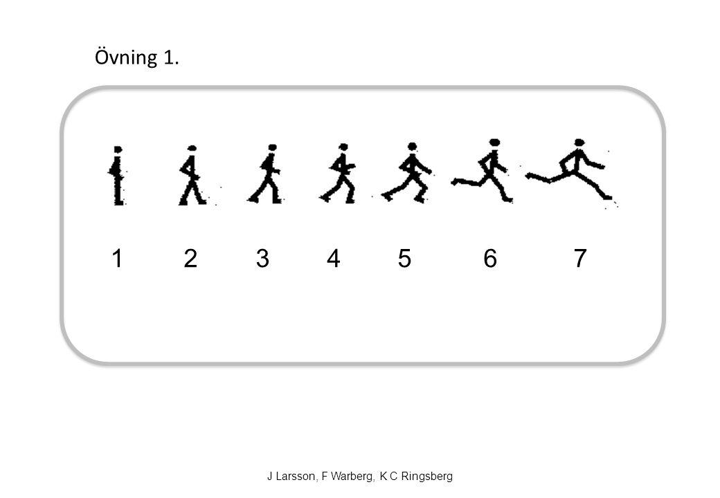 1 2 3 4 5 6 7 Övning 1. J Larsson, F Warberg, K C Ringsberg