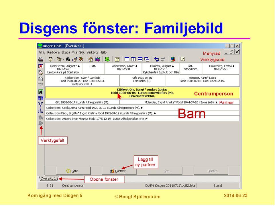 Disgens fönster: Familjebild Kom igång med Disgen 5 © Bengt Kjöllerström 2014-06-23