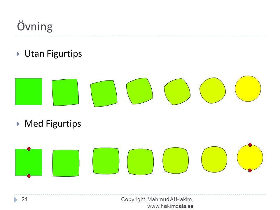 Övning  Utan Figurtips 21  Med Figurtips Copyright, Mahmud Al Hakim, www.hakimdata.se