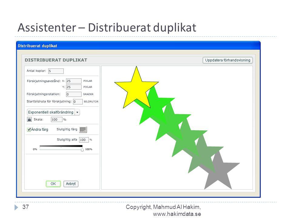 Assistenter – Distribuerat duplikat 37Copyright, Mahmud Al Hakim, www.hakimdata.se